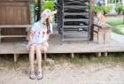 VOL.23 [爱蜜社]甜美清新阳光海边美女萌女双马尾香车美女:杨晨晨(sugar小甜心CC,杨晨晨sugar)超高清写真套图(42P)