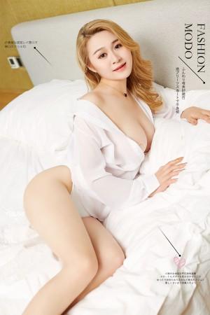 VOL.1798 [尤蜜]巨乳衬衫床上:Cici超高清写真套图(24P)