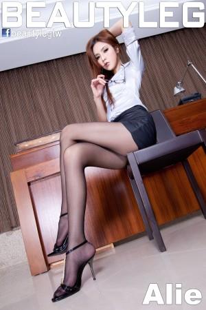 VOL.1117 [Beautyleg]办公室丝袜美腿黑丝:腿模Alie超高清写真套图(65P)